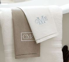 Pure linen monogrammed towels.  Yes please.