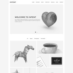 Intent - Minimal Portfolio Template by Lucid Themes on @creativemarket. Price $12