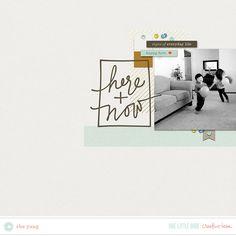 CT Inspiration | Dwell | One Little Bird #scrapbooking #digitalscrapbooking