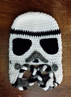 Storm Trooper, Star Wars inspired Handmade Crochet Stor Trooper Hat! Bring the Characters to Life with this Awesome Storm Trooper Hat.