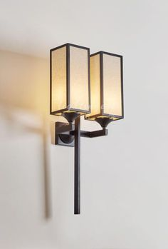 Modern new Chinese style is contracted and double wall lamp【最灯饰】现代新中式简约双头壁灯