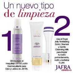 Purifica tu piel como nunca antes con el Dúo de Limpieza Royal Jelly de JAFRA. Pregúntame más detalles.    http://jafra.me/3vbx