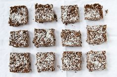 Crispy Coconut Chocolate Bars with Sea Salt