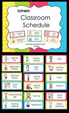 Class Schedule Template For Preschool 4 Clarifications On Class Schedule Template For Preschool class schedule template for preschool Daily Schedule Ideas for Pre-K Daily Schedule Preschool, Classroom Schedule, Classroom Labels, Classroom Organisation, Teacher Organization, Kindergarten Classroom, Classroom Management, Classroom Decor, Kindergarten Interior