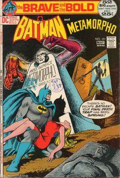 Items similar to Brave and the Bold 101 Comic, Metamorpho, Batman Vintage Books. 1972 DC, NM on Etsy Batman Comic Books, Batman Comics, A Comics, Comic Art, Superman Comic, Batman Arkham, Batman Robin, Brave And The Bold, Be Bold