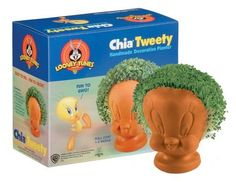 Chia Tweety Handmade Decorative Planter, Looney Tunes, 1 Kit by Chia. $16.29. Full coat in 1-2 weeks. Easy to do, fun to grow!. Contains: handmade pottery planter; Chia seed packet for 3 plantings; convenient plastic drip tray; planting and care instruction sheet.. Save 29% Off!