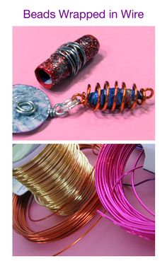 "#5. Wrap paper beads with wire. (From ""5 Great ways to decorate handmade beads"".)"