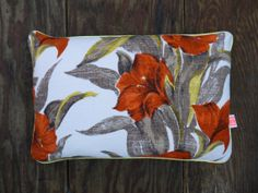 Vintage Floral Fabric Cushion by MuttonandLamb on Etsy, £78.00