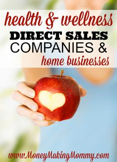 If you're a fan of wellness, nutrition and health in general - you might love having your own home business that focuses on health. See this list of direct sales companies at Home Party Business, Best Home Based Business, Successful Home Business, Home Based Business Opportunities, Business Ideas, Business Names, Direct Sales Companies, Busy At Work, Work From Home Moms