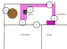 The layout before the kitchen renovation
