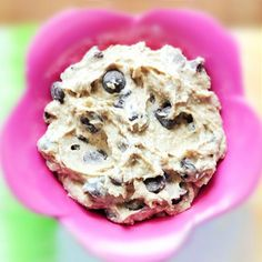 Healthy Cookie Dough Dip - I tried this and was shocked... It really does taste EXACTLY like eating chocolate chip cookie dough! Link to the original version, from @choccoveredkt: http://chocolatecoveredkatie.com/2011/05/23/want-to-eat-an-entire-bowl-of-cookie-dough/