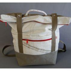 sac à dos en toile de voile de bateau recyclée