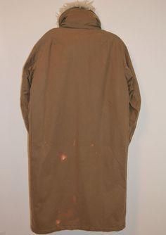 Vintage Helmut Lang A w 99 00 Olive Cotton Parka Sz 50 Removable Fur Collar   eBay