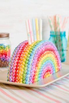 Rainbow birthday cake idea #rainbowbirthdayparty #rainbowbirthdaypartyideas #rainbowpartydecor #kidsbirthdayparty #kidsbirthdaypartyideas #girlbirthdayparty #girlbirthdaypartyideas #boybirthdayparty #boybirthdaypartyideas