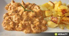 Csikós tokány rozmaringos burgonyával recept képpel. Hozzávalók és az elkészítés részletes leírása. A csikós tokány rozmaringos burgonyával elkészítési ideje: 80 perc