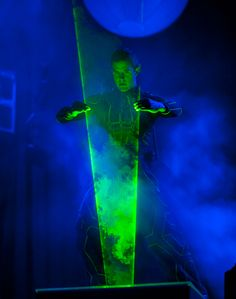 Theo Dari, also known as Laserman, works with lasers to create dramatic, high-energy, and highly visual entertainment acts. The artist has p... Photo: Courtesy of Long Beach Convention & Visitors Bureau