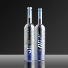 James Bond's limited edition Belvedere vodka bottles, pinned by www.the-vodka-guy.com
