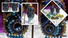 shibori silk earings-Design Renate Lohse