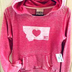 HEART MT-. Sweatshirt hoodie- ladies | MONTANA SHIRT CO.