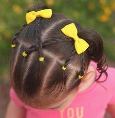 Ava'S bows him peinados cabello corto niña, peinados con trenzas para niñas, pelo de Easy Toddler Hairstyles, Lil Girl Hairstyles, Princess Hairstyles, Hairstyles Haircuts, Braided Hairstyles, Kids Hairstyle, Toddler Hair Dos, Childrens Hairstyles, Hairstyle Short