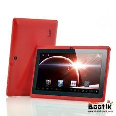 """Budget Android Tablet PC """"Lavos"""" - 7 Inch Screen, 1GHz CPU, 512MB RAM, Wi-Fi, 4GB Memory (Red) #tablet #androidtablet"""