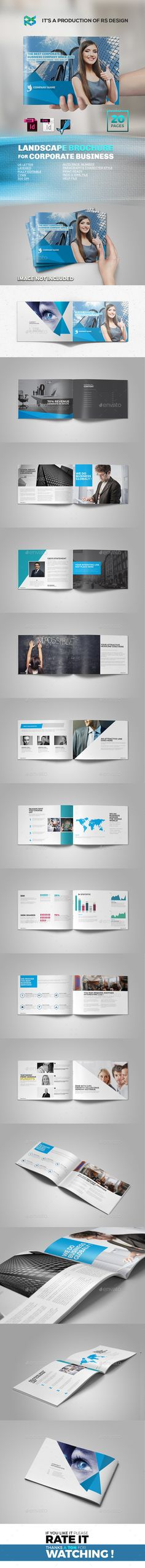 Landscape Corporate Brochure Template InDesign INDD. Download here: http://graphicriver.net/item/landscape-corporate-brochure-/16822846?ref=ksioks