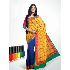 BEAUTIFUL PRINTED KHADI SILK SAREE WITH BLOUSE        RFVS-8535