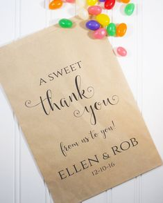 WEDDING FAVOR BAGS Set of 12 Personalized by LongShadowPaper