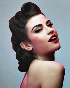 Pin up hair do pin up hairstyles, hair styles 2016 и retro updo hairsty 50s Hairstyles Women, Vintage Hairstyles For Long Hair, Up Hairstyles, Wedding Hairstyles, Summer Hairstyles, Hairstyle Ideas, Amazing Hairstyles, Bandana Hairstyles, Indian Hairstyles