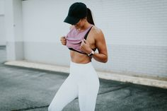 Here is a blog post that features some pieces from my staple athleisure. These moto leggings always make the cut, plus, this sports bra, AND a baseball cap!
