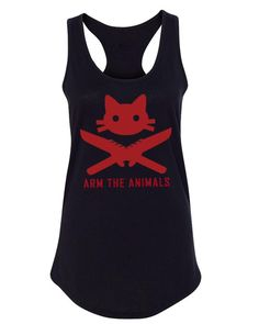 f227a05bfb048 Women's | 9 Lives 2 Lose Classic | Ideal Tank Top – Arm The Animals Clothing