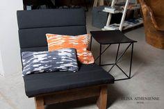 Almofada em tramas de couro #leather #decor #home #ElisaAtheniense