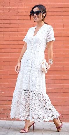 Dress Attire, Dress Outfits, Casual Dresses, Summer Dresses, White Linen Dresses, Little White Dresses, Apron Dress, Dress Skirt, Ibiza Dress