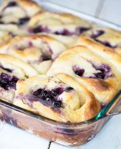 Lemon Blueberry Rolls from Our Best Bites