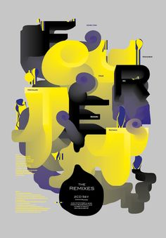 FLOWtype : Music Posters by Christoph Ruprecht, via Behance