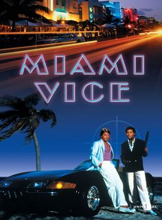 Miami Vice - Stars: Don Johnson, Philip Michael Thomas, Saundra Santiago. - The adventures of the vice squad detectives of the Miami Police Department. Don Johnson, 80 Tv Shows, Great Tv Shows, Movies And Series, Tv Series, Miami Vice Font, Vice Tv Show, Estilo Miami, Mejores Series Tv