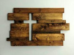 Rustic Wooden Cross - Covered Bridges Woodworking, LLC #Diywallart