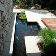 Looking for Feng Shui and the Art of Water Features for Your Garden? Discover design inspiration of Feng Shui of the Water Element in Your Garden and Backyard Water Features for Positive Feng Shui. Koi Pond Design, Design Patio, Garden Design, Backyard Water Feature, Ponds Backyard, Koi Ponds, Modern Water Feature, Garden Ponds, Pond Landscaping