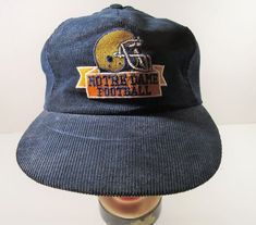 Vintage Notre Dame Football Corduroy Snapback Cap USA  UniversitySquare   BaseballCap Notre Dame Football be941504a1c6