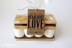 """Sending you s'more love"" wedding favor | 37 Ways to Trim Thousands Off Your Wedding | The Wedding Shoppe"