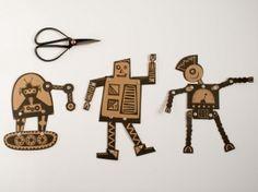 Papieren poppen Robot - Heedopter   Heedopter   mevrouwtjedewilde