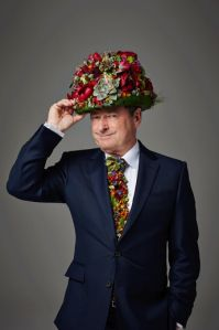 Alan Titchmarsh in the Radio Times - Zita Elze floral top hat and tie