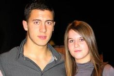 Eden Hazard, who plays for Chelsea (England's Premier League Soccer) has been in a relationship with Natasha Van Honacker for quite a few years now.