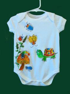 Turtle and Friends Handpainted Infant by DeborahWillardDesign