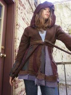 Recycled sweater coat.