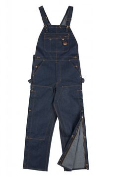688c527cb153 Rasco Flame Resistant 11.5 oz Bib Overalls - Blue Denim