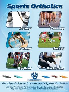 Visit Milton Orthotic & Wellness Centre, Custom Orthotics For Sports - Running, Cycling, Soccer, Football, Basketball, Hockey, Skiing and many more...   Visit www.miltonorthoticwellness.com