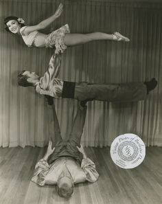 The 3 Cliffs: vintage 8x10 photo The 3 Cliffs were an acrobatic and balancing team out of College Park, MD.