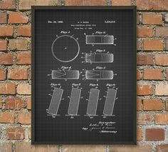 Hockey Puck Patent Wall Art Poster by QuantumPrints on Etsy