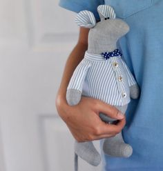 Mr Ratatouille mouse rat PDF soft toy sewing by UnikPattern Softies, Plushies, Christmas 24, Ladder Stitch, Sewing Toys, Pdf Patterns, Is 11, Step By Step Instructions, Hand Sewing